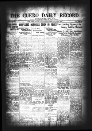 The Cuero Daily Record (Cuero, Tex.), Vol. 58, No. 25, Ed. 1 Tuesday, January 30, 1923