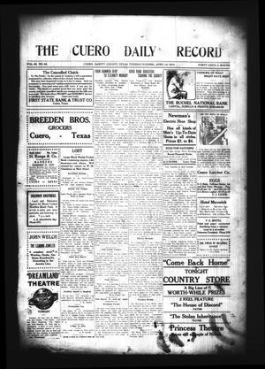 The Cuero Daily Record (Cuero, Tex.), Vol. 40, No. 88, Ed. 1 Tuesday, April 14, 1914