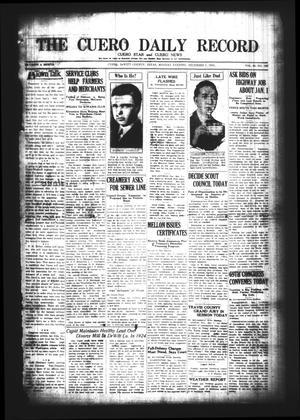 The Cuero Daily Record (Cuero, Tex.), Vol. 63, No. 135, Ed. 1 Monday, December 7, 1925