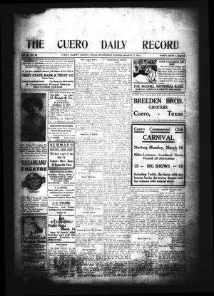 The Cuero Daily Record (Cuero, Tex.), Vol. 40, No. 59, Ed. 1 Wednesday, March 11, 1914