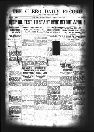 The Cuero Daily Record (Cuero, Tex.), Vol. 56, No. 60, Ed. 1 Sunday, March 12, 1922