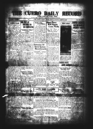 Primary view of object titled 'The Cuero Daily Record (Cuero, Tex.), Vol. 62, No. 58, Ed. 1 Tuesday, March 10, 1925'.