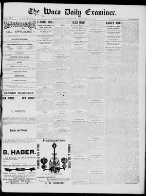 Primary view of object titled 'The Waco Daily Examiner. (Waco, Tex.), Vol. 17, No. 282, Ed. 1, Saturday, September 13, 1884'.