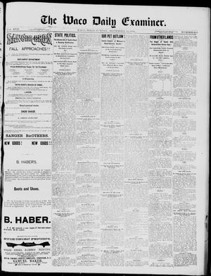 Primary view of object titled 'The Waco Daily Examiner. (Waco, Tex.), Vol. 17, No. 283, Ed. 1, Sunday, September 14, 1884'.