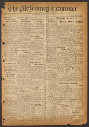 Primary view of object titled 'The McKinney Examiner (McKinney, Tex.), Vol. 50, No. 50, Ed. 1 Thursday, October 8, 1936'.