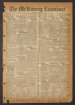 Primary view of object titled 'The McKinney Examiner (McKinney, Tex.), Vol. 50, No. 52, Ed. 1 Thursday, October 22, 1936'.