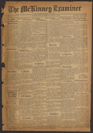 Primary view of object titled 'The McKinney Examiner (McKinney, Tex.), Vol. 50, No. 10, Ed. 1 Thursday, January 2, 1936'.