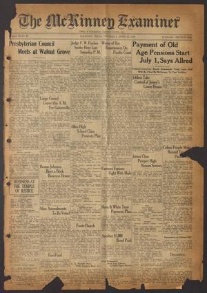 The McKinney Examiner (McKinney, Tex.), Vol. 50, No. 26, Ed. 1 Thursday, April 23, 1936
