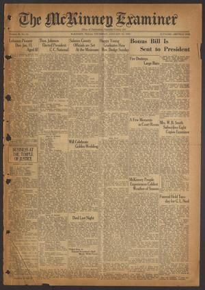 The McKinney Examiner (McKinney, Tex.), Vol. 50, No. 13, Ed. 1 Thursday, January 23, 1936