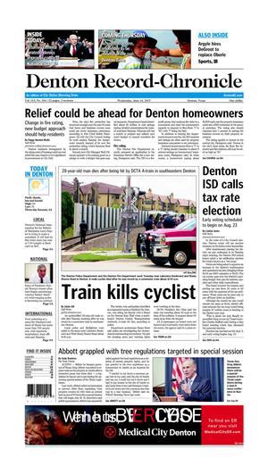 Primary view of Denton Record-Chronicle (Denton, Tex.), Vol. 113, No. 316, Ed. 1 Wednesday, June 14, 2017