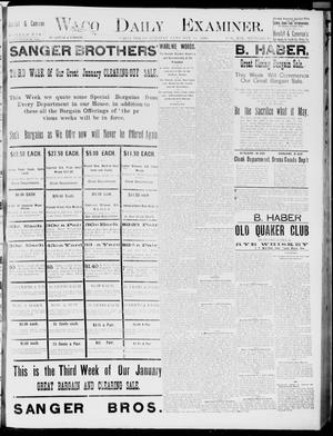 Primary view of object titled 'Waco Daily Examiner. (Waco, Tex.), Vol. 19, No. 50, Ed. 1, Tuesday, January 19, 1886'.