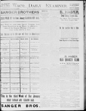 Primary view of object titled 'Waco Daily Examiner. (Waco, Tex.), Vol. 19, No. 61, Ed. 1, Sunday, January 31, 1886'.