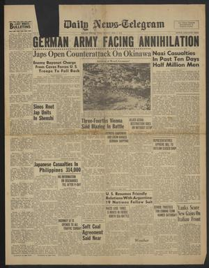 The Daily News-Telegram (Sulphur Springs, Tex.), Vol. 47, No. [85], Ed. 1 Monday, April 9, 1945