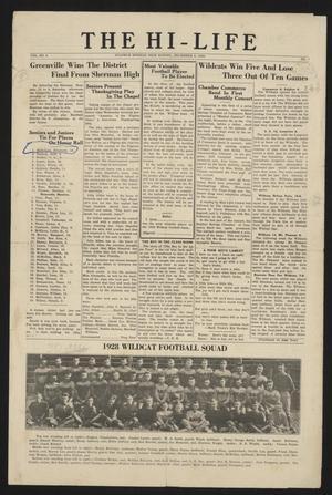 The Hi-Life (Sulphur Springs, Tex.), Vol. 9, No. 1, Ed. 1 Monday, December 3, 1928