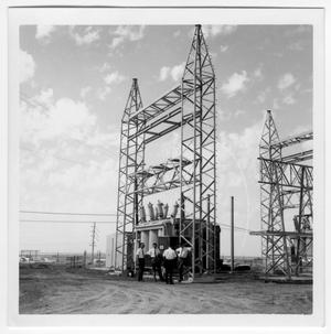 Primary view of object titled 'Four Unidentified Men at the Power Plant'.