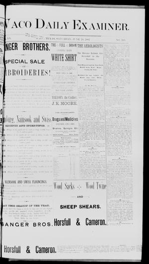 Waco Daily Examiner. (Waco, Tex.), Vol. 20, No. 195, Ed. 1, Saturday, June 18, 1887