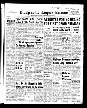 Primary view of object titled 'Stephenville Empire-Tribune (Stephenville, Tex.), Vol. 90, No. 16, Ed. 1 Friday, April 15, 1960'.