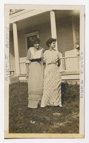 [Photograph of Myrtle Austin Next to Nora Reeves]