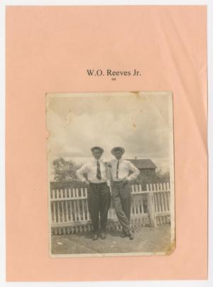 [Photograph of W.O. Reeves Jr. and Man]