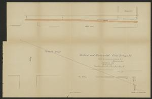 Primary view of object titled 'Exhibit O. Vertical and Horizontal Cross Section I-J'.