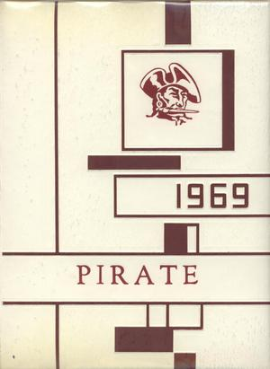 Primary view of object titled 'The Pirate, Yearbook for Old Glory Students, 1969'.