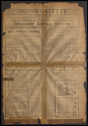 Primary view of object titled 'Shiner Gazette (Shiner, Tex.), Vol. 21, No. 31, Ed. 1 Thursday, April 9, 1914'.