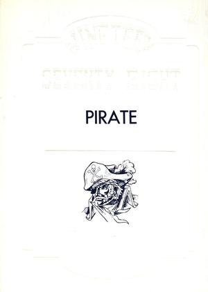 Primary view of object titled 'The Pirate, Yearbook for Old Glory Students, 1978'.