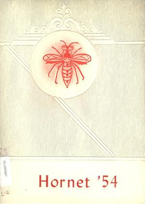 Primary view of object titled 'The Hornet, Yearbook of Aspermont Students, 1954'.