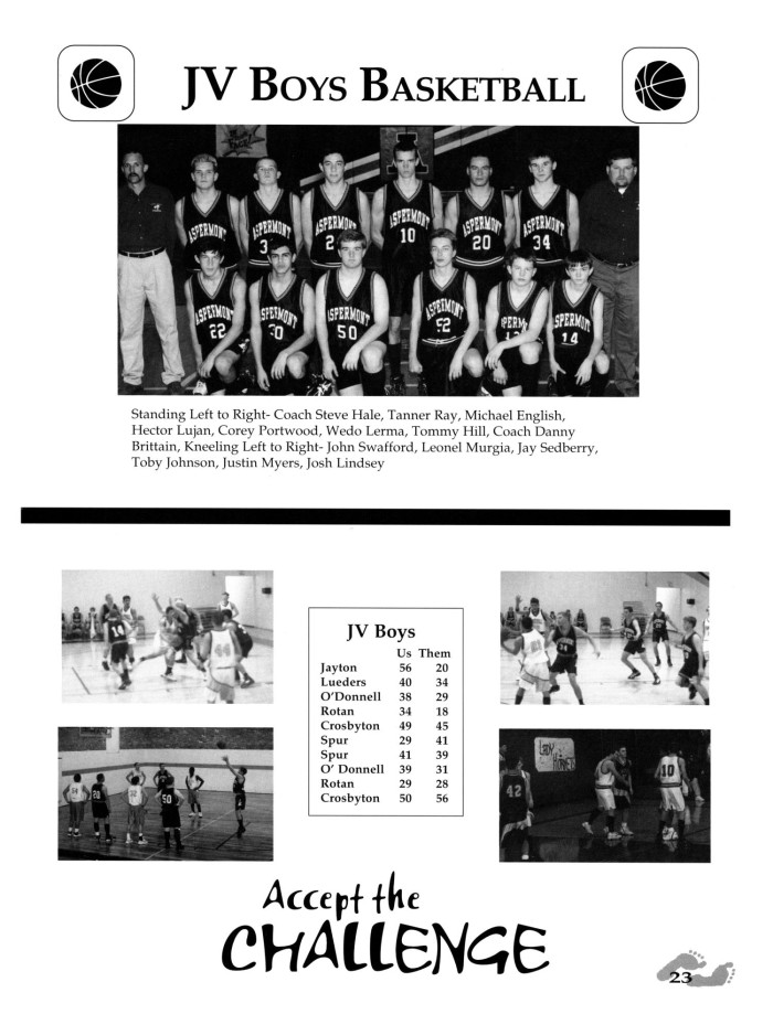 The Hornet, Yearbook of Aspermont Students, 2000, Page: 23 | The ...