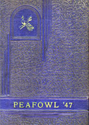 Primary view of object titled 'The Peafowl, Yearbook for Peacock Students, 1947'.