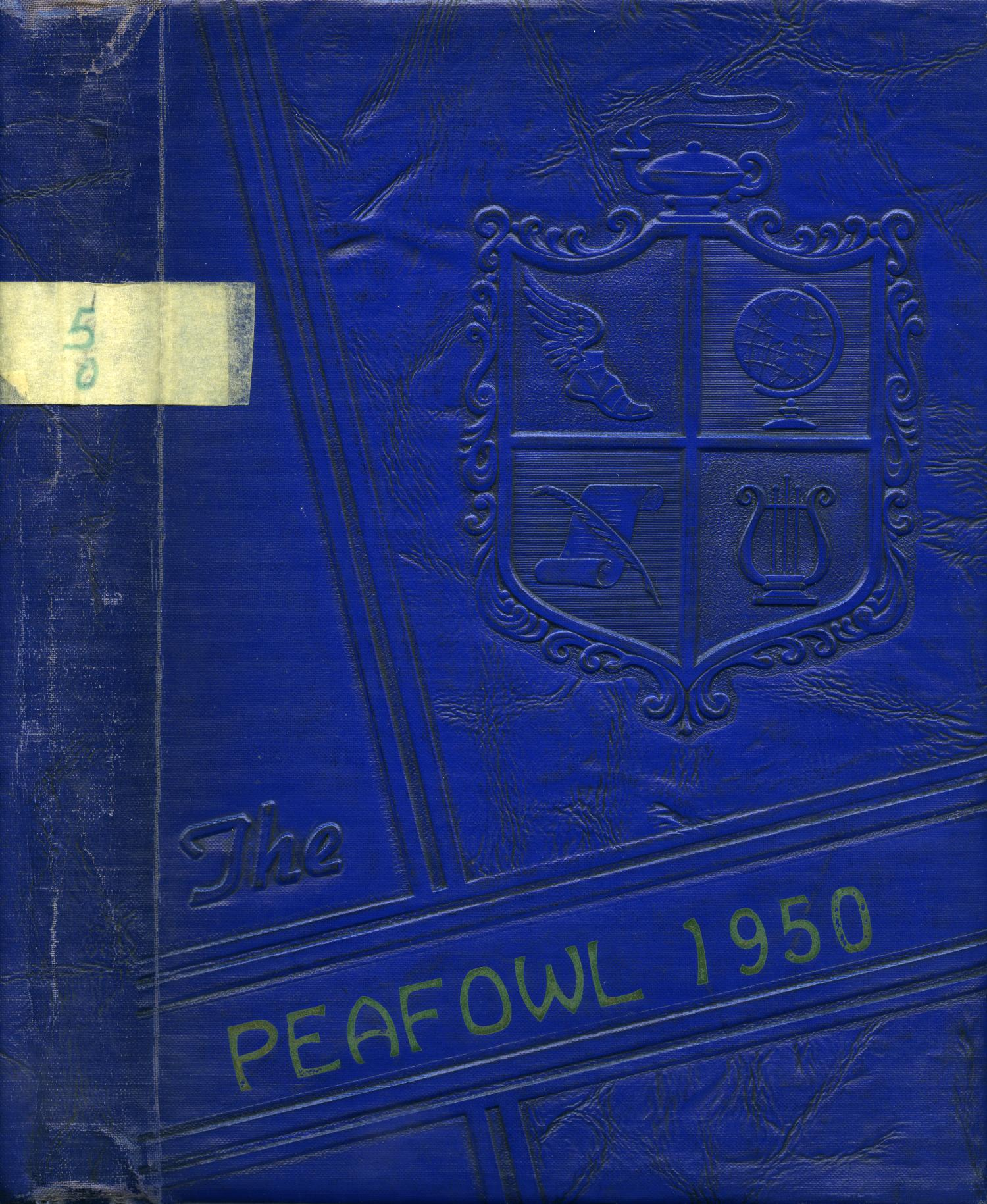 The Peafowl, Yearbook for Peacock Students, 1950                                                                                                      Front Cover
