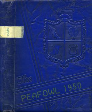 Primary view of object titled 'The Peafowl, Yearbook for Peacock Students, 1950'.