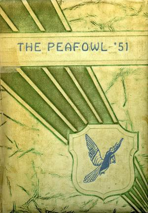 Primary view of object titled 'The Peafowl, Yearbook for Peacock Students, 1951'.