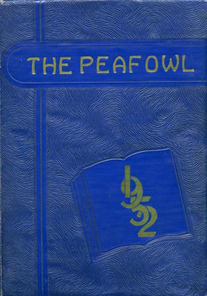 Primary view of object titled 'The Peafowl, Yearbook for Peacock Students, 1952'.
