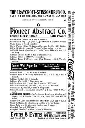 R  L  Polk & Co 's Sherman City Directory, 1910-1911 - Page