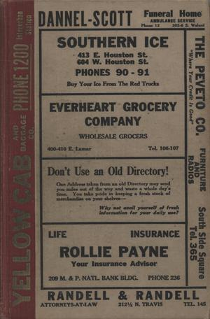 Primary view of object titled 'Worley's Sherman City Directory, 1935'.