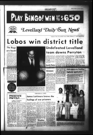 Levelland Daily Sun News (Levelland, Tex.), Vol. 31, No. 93, Ed. 1 Sunday, February 11, 1973