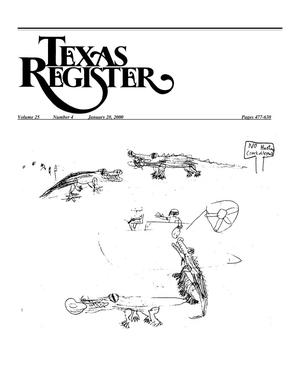 Primary view of object titled 'Texas Register, Volume 25, Number 4, Pages 477-638, January 28, 2000'.