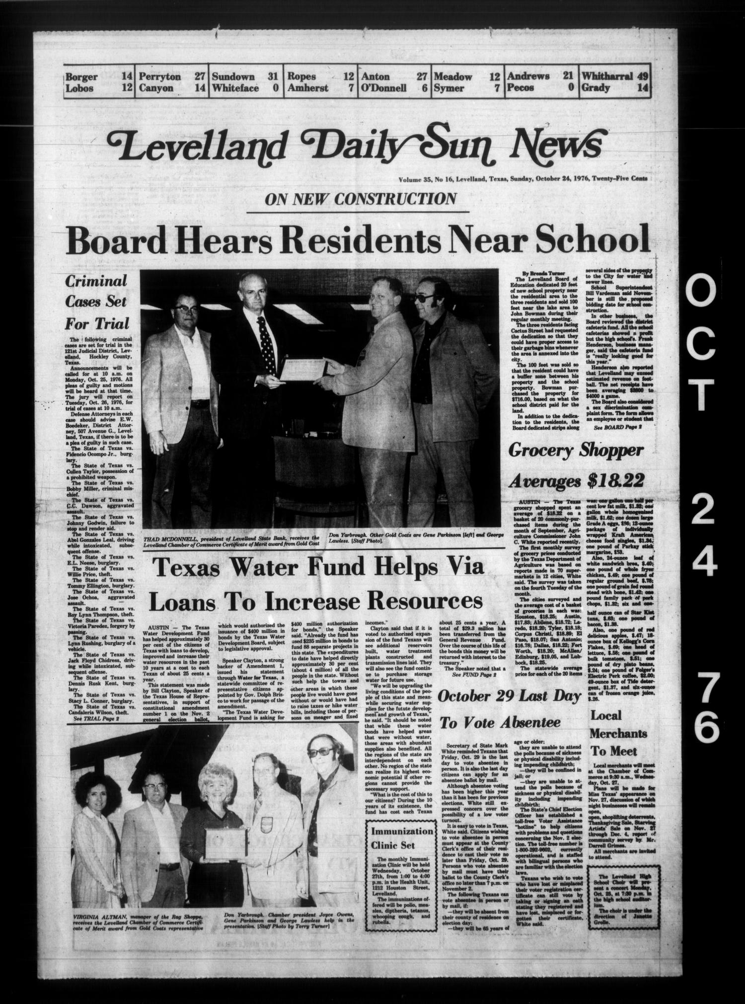 Levelland Daily Sun News (Levelland, Tex.), Vol. 35, No. 16, Ed. 1 Sunday, October 24, 1976                                                                                                      [Sequence #]: 1 of 32