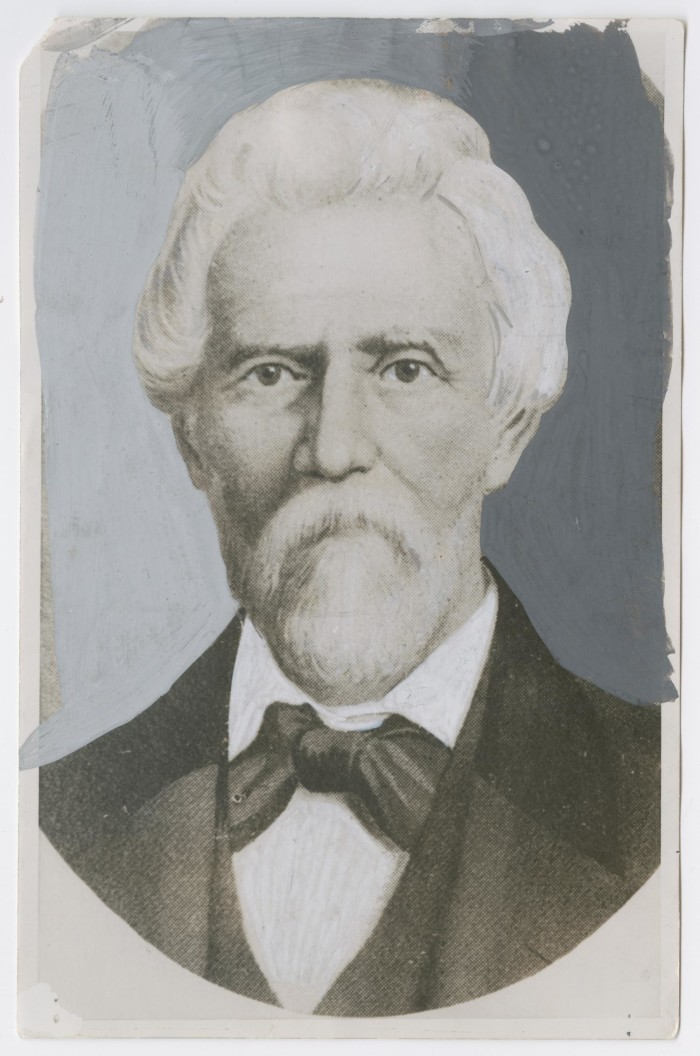 First side of: [Samuel Maverick Photograph], a photograph available in the The Portal to Texas History