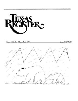 Primary view of object titled 'Texas Register, Volume 24, Number 49, Pages 10619-11039, December 3, 1999'.