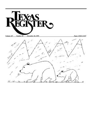 Primary view of object titled 'Texas Register, Volume 24, Number 50, Pages 11041-11187, December 10, 1999'.