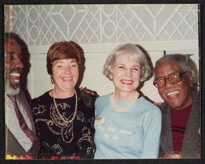 Roy Eldridge with Eddie Locke, Jean Bach, and unidentified woman