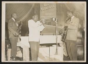 Roy Eldridge with alto saxophonist and guitarist