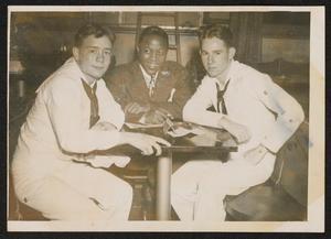 Roy Eldridge with two sailors