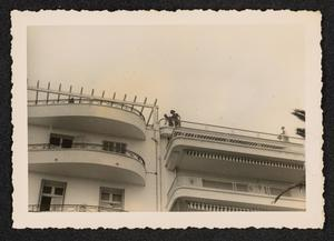 Building with curved balconies