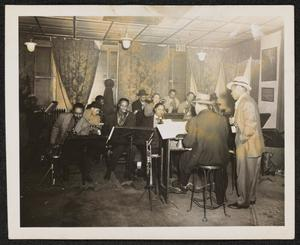 Big band in performance
