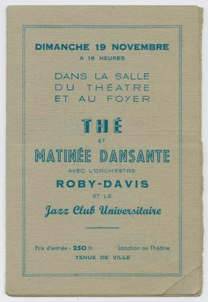Advertisement for Roy Eldridge performing in Chartres, France