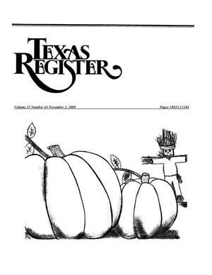 Primary view of object titled 'Texas Register, Volume 25, Number 44, Pages 10833-11184, November 3, 2000'.