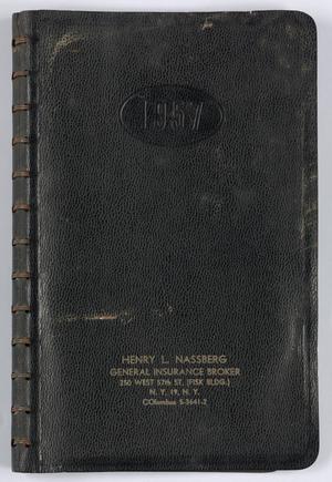 Roy Eldridge's datebook for 1957, Calendar for Roy Eldridge: 1957